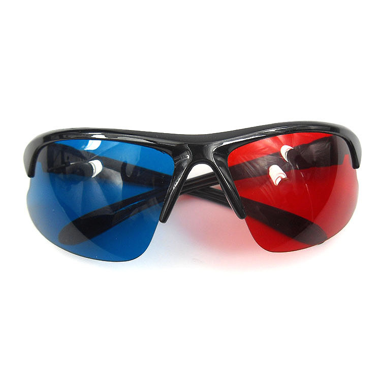 5 Pieces New Plastic Anaglyph 3D Glasses- image 2