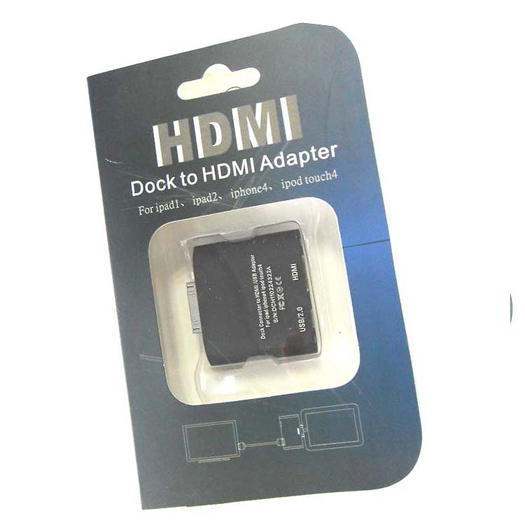 Dock to HDMI adapter for ipad 1 ipad2 iphone ipod touch 4 - Black- image 3