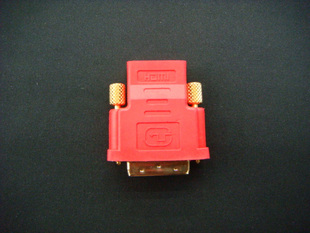 HDMI to DVI converter / adapter - Red