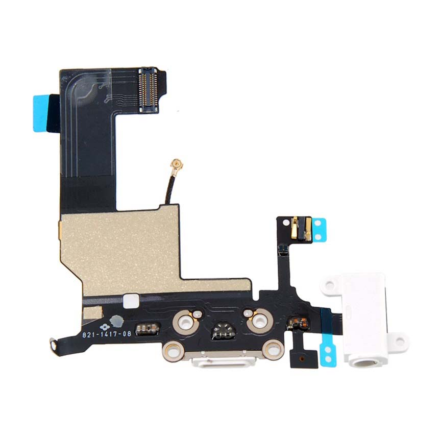 Phone Replacement Tail Plug for iPhone 5 - White
