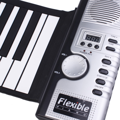 Soft Keyboard Piano with MIDI (61 Key, Digital Roll-up)- image 1