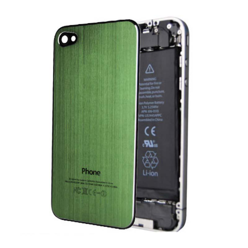 iPhone 4S Brushed Metal Back Cover Plate - Green