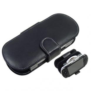 10 PIECES For PSP Horizontal Leather Pouch - Black