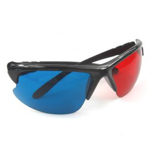5 Pieces New Plastic Anaglyph 3D Glasses