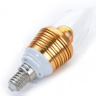 Buy Candle Style E14 4W 250-Lumen White 4-LED Light Bulb 1
