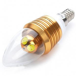 Candle Style E14 4W 250-Lumen White 4-LED Light Bulb