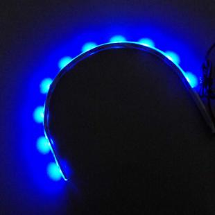 Kaufen Auto dekorative 0,6 W 300mm 10x3528 SMD LED Blue Light Waterproof Flexible Strips 1