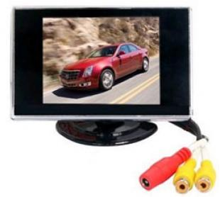 Car rearview rear view 3.5-inch TFT-LCD Color Monitor screen