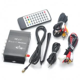 Buy DVB-T Digital Car TV Receiver Box w/ Antenna - 12V - Single Tuner 2
