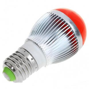 Buy E27 3W 120-150LM Red 3-LED Bulb (220V) 1
