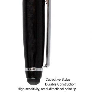 Buy Executive Luxury Capacitive Stylus Pen with Ballpoint Pen - Jet Black 1