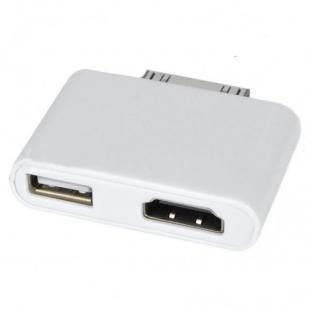 Buy HDMI + USB Host Adapter for iPad 2/iPad/iPhone 4/iPod Touch 4 - White 4