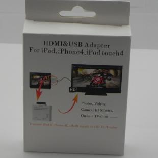 Buy HDMI + USB adapter for ipad/iphone4/ipod touch4 3