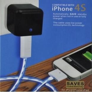 Buy LED Blue Light USB Power Charge & Data Sync Cable for iPhone iPad iPod - Black 2