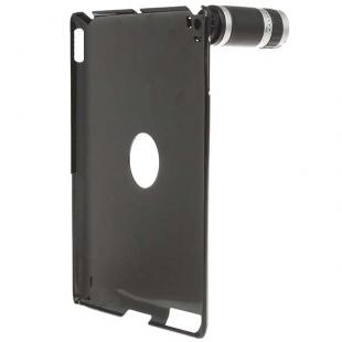 Optical Zoom Lens Camera Telescope + Protective Back Case for iPad 2 (6PCS)