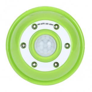 PIR Motion Activated 6-LED White Light- Green + White