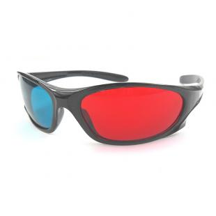 Plastic Anaglyph 3D Glasses, Plastic Cyan Red 3D Glasses
