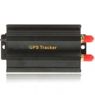 Portable Multi-Function SMS/GPRS/GPS Vehicle Tracker - Black