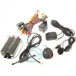 Buy Portable Multi-Function SMS/GPRS/GPS Vehicle Tracker - Black 4