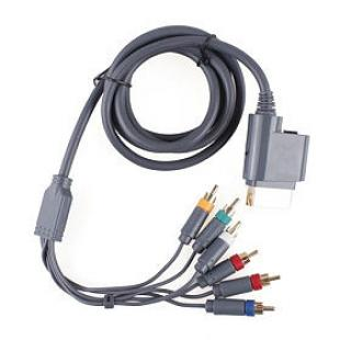 Premium Component Video and Audio AV Cable For Xbox 360