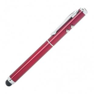 Professor Capacitive Stylus Pen with Laser Pointer and LED Light - Red