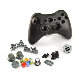 Replacement Wired Controller Case Shell for XBOX 360 (Black)