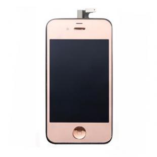 Rose Gold Touch Digitizer & LCD Display & Back Cover & Button Assembly For iPhone 4