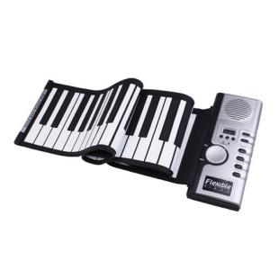 Soft Keyboard Piano with MIDI (61 Key, Digital Roll-up)