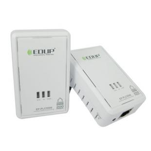 Twin Pack Mini HomePlug Ethernet Bridge Powerline Adapter - 200Mbps Speed