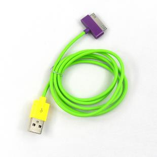USB Data Sync + Charger Cable Cord for iPhone iPad -1M -Green