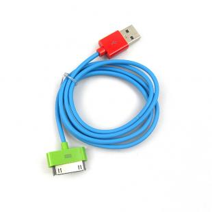 USB Data Sync Charger Cable Cord for iPhone/iPad -1M -Blue