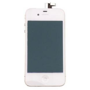 iPhone 4 Screen Repair Kit White, LCD, Touch Panel, Home Button, Frame