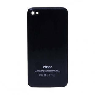 iPhone 4S Beveled Brushed Metal Back Cover Plate - Black