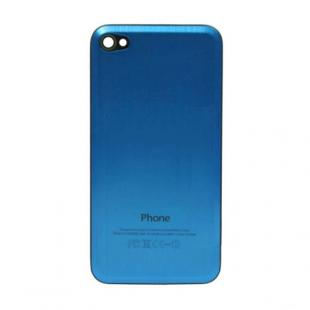 iPhone 4S Beveled Brushed Metal Back Cover Plate - Electric Blue