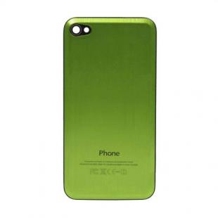 iPhone 4S Beveled Brushed Metal Back Cover Plate - Green