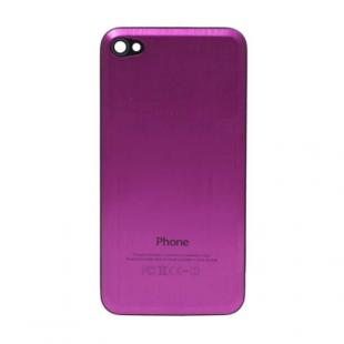 iPhone 4S Beveled Brushed Metal Back Cover Plate - Pink
