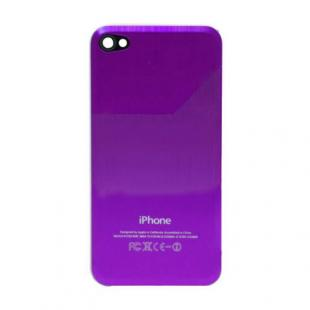 iPhone 4S Beveled Brushed Metal Back Cover Plate - Purple