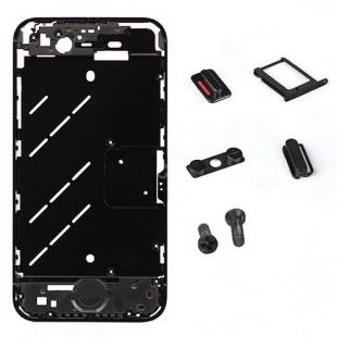 iPhone 4S Black Antenna Chassis Conversion Kit with Buttons