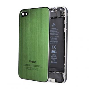 iPhone 4S Brushed Metal Contraportada Plate - Verde