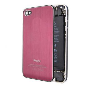 iPhone 4S Premium Brushed Metal Back Cover Plate - Pink