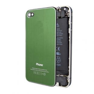 iPhone 4S Premium Brushed Metal Back Cover Plate - Green