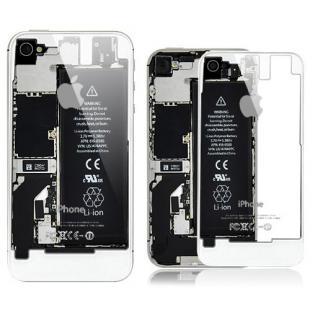 iPhone 4S Transparent Glass Back Cover - White