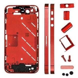 iPhone 4s Metal Midframe Middle frame board-Plated Red