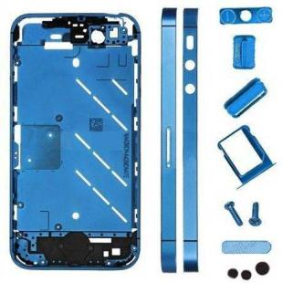 iPhone 4s Metal Midframe Middle frame board-Plated Blue