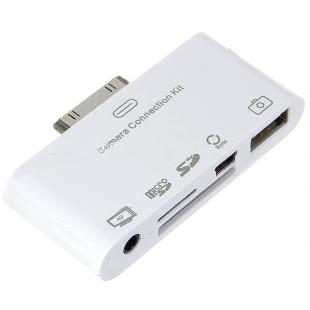 5-in-1 Camera Connection Kit (Micro SD/SD Card Reader) with AV Cable for iPad