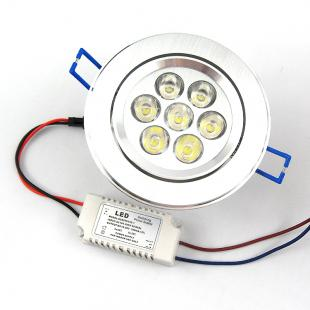 7x1W LED Downlight
