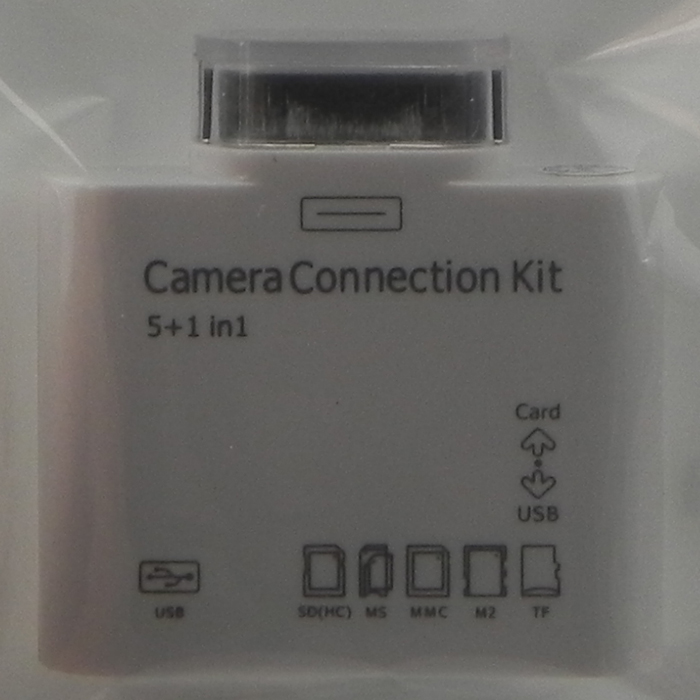 5-in-1 connection kit for iPad (support USB, SDHC, MS, MMC, M2, TF card)