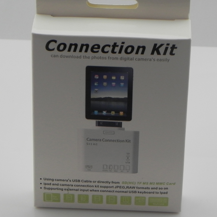 5-in-1 connection kit for iPad (support USB, SDHC, MS, MMC, M2, TF card)- image 1