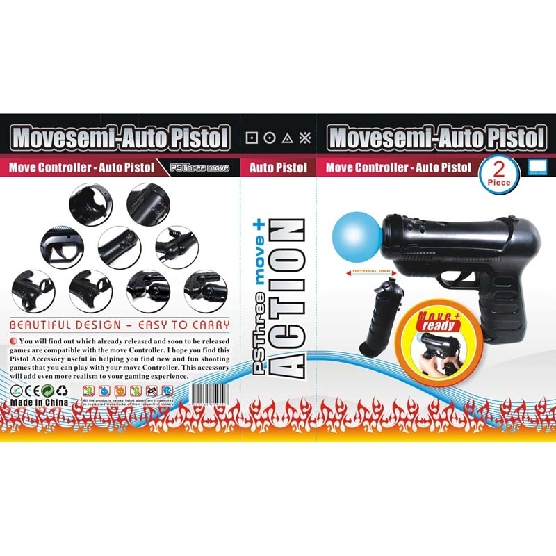 10x Move Controller - Auto Pistol for PS3- image 1